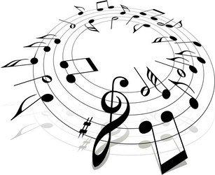 note musicali in cerchio